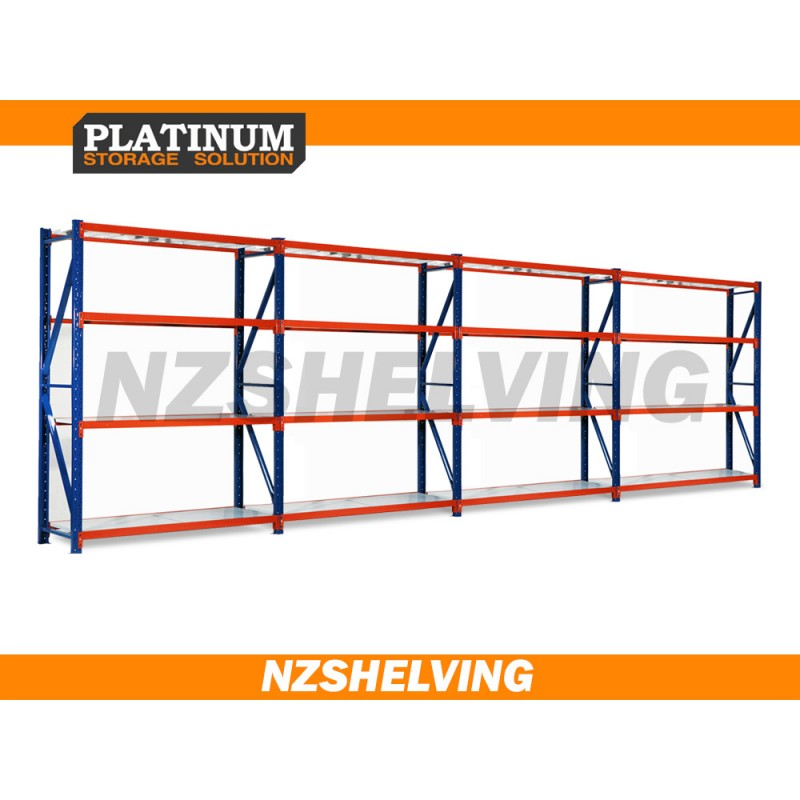 3.0m Tall Four Bay Heavy Duty Shelving