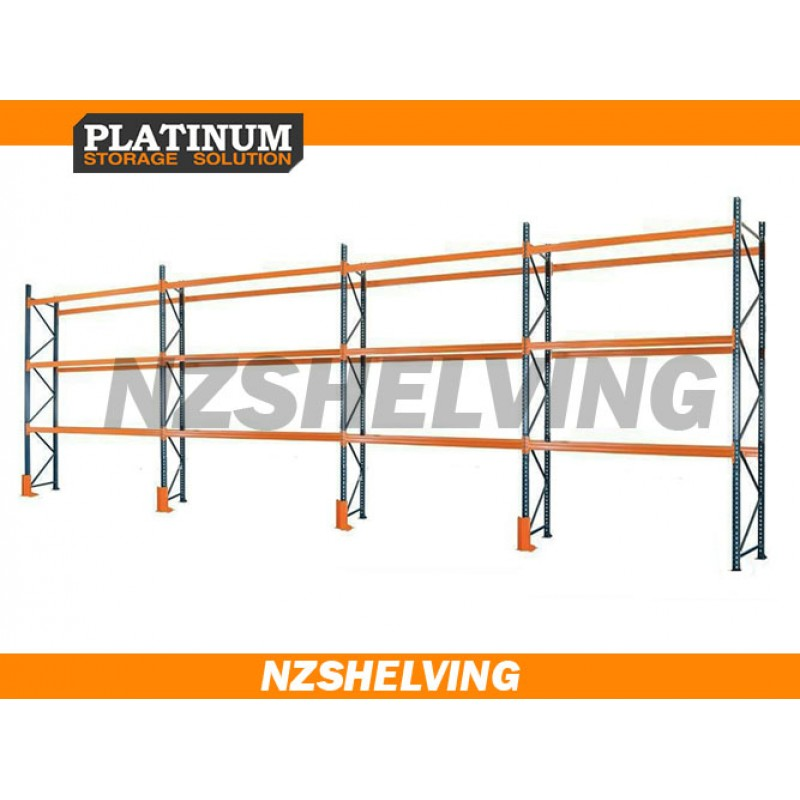 Four Bay 4.2M Pallet Racking