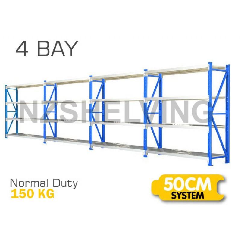 Four Bay Normal Duty Shelving