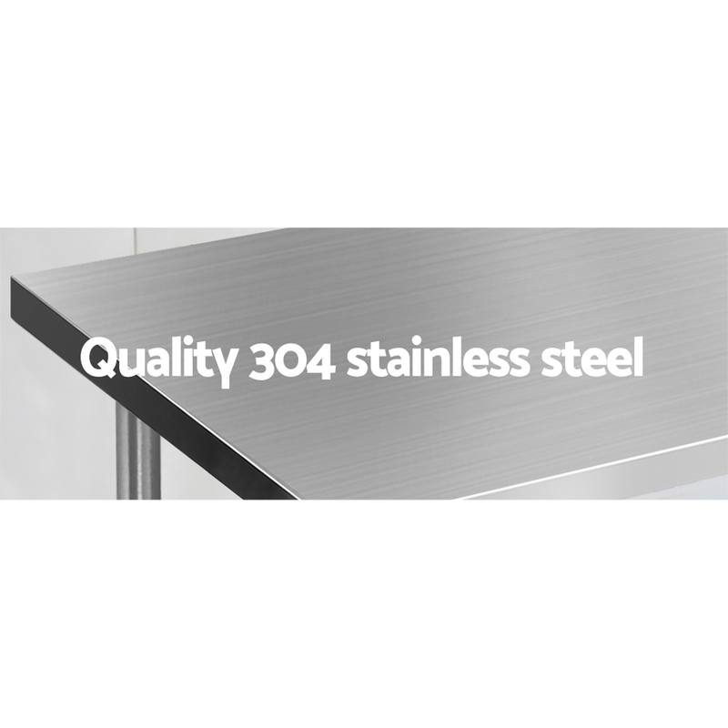 Cool 1524 X 610Mm Commercial Stainless Steel Kitchen Bench Pabps2019 Chair Design Images Pabps2019Com