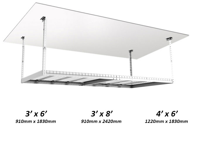 Meet Our Heavy Duty Ceiling Storage Racks Can Accommodate Up To 200kg Of Distributed Weight And Are Height Adjule From 560mm 1015mm
